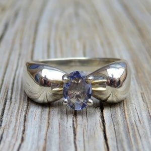 Vintage Sterling Silver Natural Tanzanite Ring